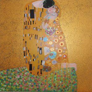 """""""le baiser """" de Gustave Klimt.2ème interprétation"""