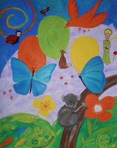 peinture acrylique sur toile .81x90