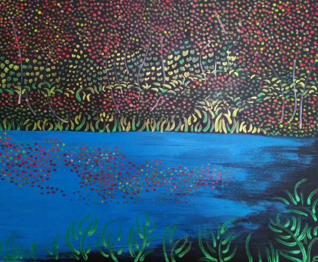 lac. pigments sur toile 61x50