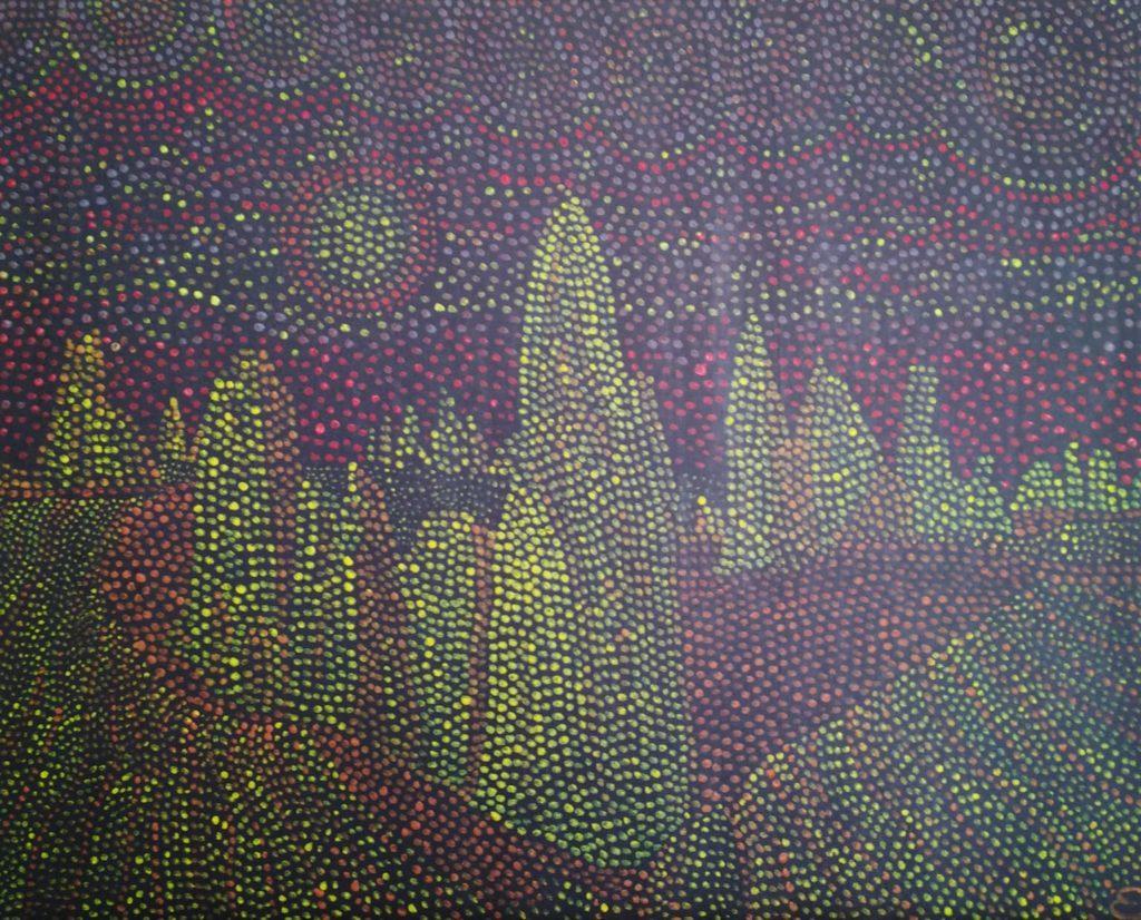 désert des pinnacles. pigments sur toile. 81x65